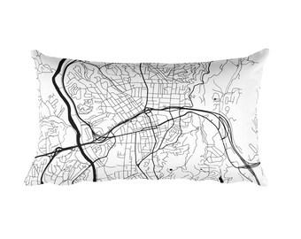 Asheville Pillow, Asheville Throw Pillow, Asheville Decor, Asheville Gift, Asheville Map, Asheville Art, Asheville NC, Asheville, Cushion