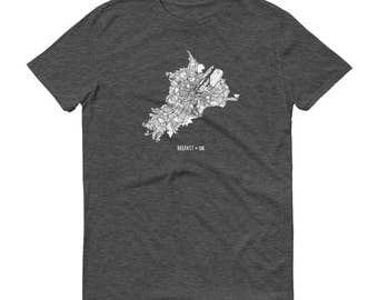 Belfast Shirt, Belfast, Northern Ireland, Belfast TShirt, Belfast Gift, Belfast Tee, Belfast Map, United Kingdom Shirt, UK Map, Belfast
