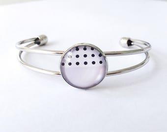 The 'Reagan' Glass Cuff Bracelet