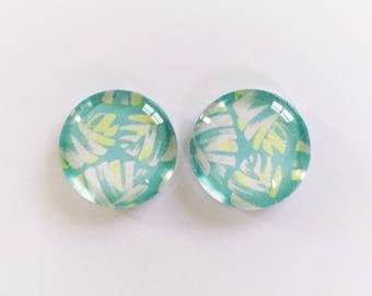 The 'Pia' Glass Earring Studs