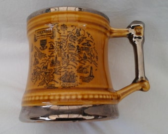 Vintage Beer Tankard from Britannia Designs Pottery