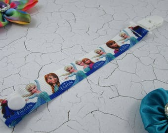 Dummy Clip / Pacifier Strap - Frozen Sisters