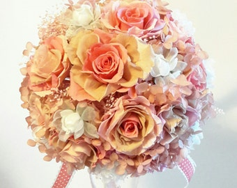 Preserved Flower wedding bouquet (stand excluded)