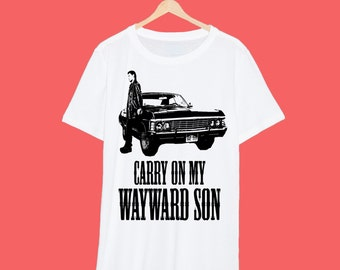 Carry On My Wayward Son Supernatural T Shirt