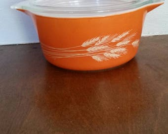 Vintage Autumn Harvest Pyrex Dish, Autumn Harvest Pyrex, Vintage Pyrex, Pyrex, Vintage Kitchen, Retro kitchen, Glassware