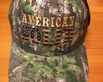 American Solid camouflage hat