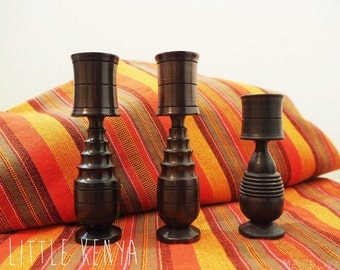 African Ebony Wood Candle holder Tribal Decor Candlesticks candle stand