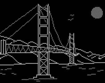 Night Cities: San Francisco. Cross Stitch Pattern. PDF File