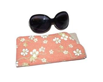 Floral Glasses Case, Sunglasses Case, Soft glasses sleeve, Glasses Pouch, Reading Glasses holder, Eyeglass sleeve,  sister birthday gift