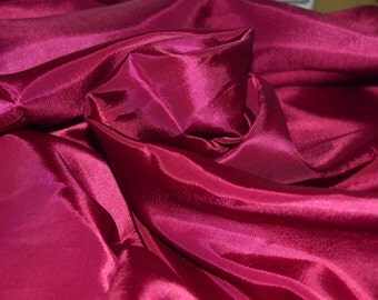 "Deep Fuchsia Tafetta Fabric 58"" Wide"