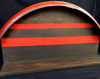 Vintage Bicycle Fender Shelf (red stripe)