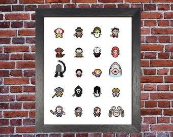 Horror Characters A4 Pixels