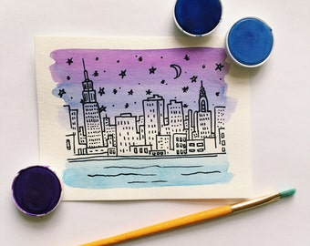 New York Skyline cards
