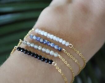Moonstone bracelet / bracelet of precious stones mini / moonstone bracelet