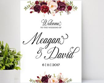 Rustic Wedding Decor, Wedding Welcome Sign, wedding chalkboard sign, wedding decoration, Wedding sign - US_WS0601