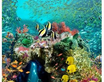 Hoffman Fabrics Ocean Print - Beautiful Colors!