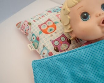 Sewn by Me Collection - Nigh Nighs Doll/Bear Pillow and Blankey
