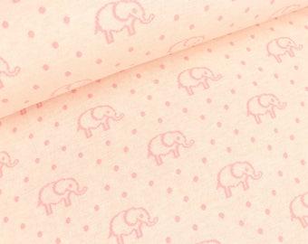 Double face Jacquard Jersey Elephant Love scuro meringa pink (19,90 EUR / meter)