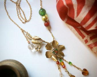 Zelda upcycled reclaimed repurposed Vintage Party Necklace