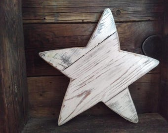 Rustic wood starfish,  Wood star, painted wood star
