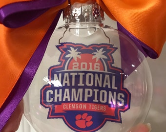 Clemson National Champions ornament