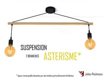 Pendant light Asterism* 2 bulbs, black scandinavian chandelier