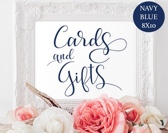 Cards and Gifts Sign - Wedding Printable - Gift Table Sign - Wedding Sign - Editable Text - Wedding Template - Downloadable Wedding #WDH0223