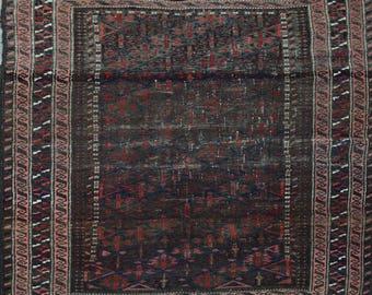 Semi antique Baluch rug 100% wool
