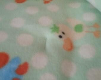 Soft warm cuddly baby blanket to enjoy in cold season.size 58x54