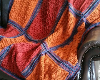 Textured  Masculine Afghan