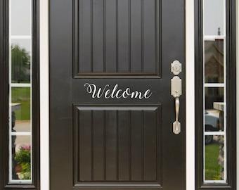 Front Door Decal, Welcome, Welcome Decal, Welcome Decals, Vinyl Decal, Welcome Sign, Welcome Door Decal, Door Decal, Door Vinyl Sing, Home