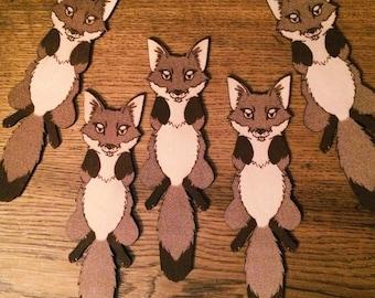 Cute Fox Leather Bookmark - Great fox lover gift! - Fox Bookmark