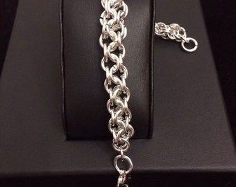 Chainmail bracelet weaving chainmail bracialet/inverted inverted round round