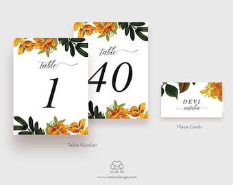 Vintage Wedding Place Cards, Wedding Table Numbers, Custom Place Cards, Guest Place Cards, Table Number Card, Autumn Wedding Decor