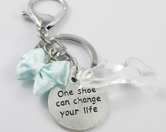 One Shoe Can Change Your Life Cinderella Shoe Charm Keychain Keyring 100mm (C2545/C683/CE053/KCF026)