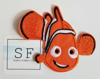 Nemo Iron on Patch - Finding Nemo Applique' - Ready to Ship