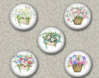 Flower Baskets  Magnets