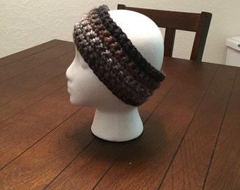 Black and Grey Crochet Headband