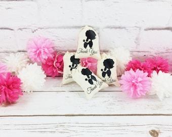 Poodle Party/Poodle Party Bags/Poodle Goody Bags/Poodle Thank You Bags/Poodle Theme Party/Poodle Party Theme/Goody Bag/Muslin Cotton Bags