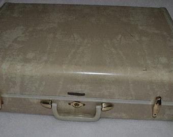 Vintage Samsonite Cream/Marble Suitcase