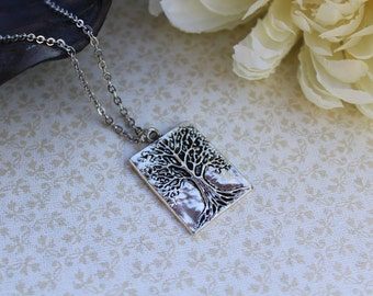Tree of life necklace, branches, silver tree, nature jewelry, tree branch, tree pendant, simple nature necklace