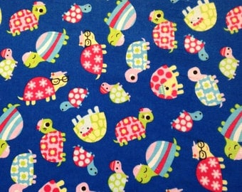 Soft Blue Turtle Fabric