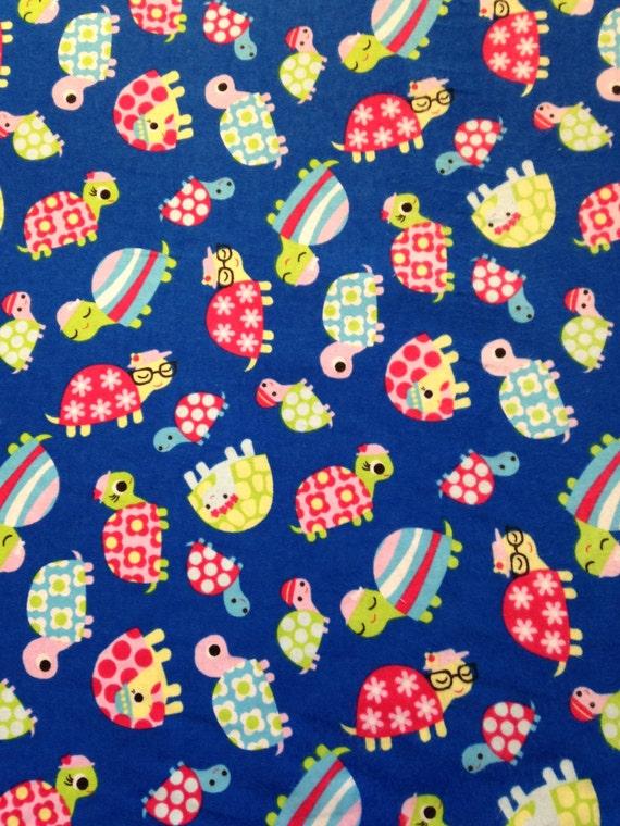 Soft Blue Turtle Fabric