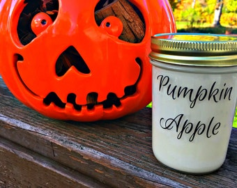50% off Discontinued Packaging! Pumpkin Apple 8oz. Jar Soy Candle