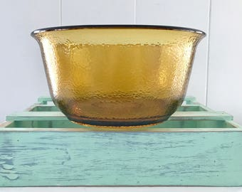 Vintage General Electric Large Amber Glass Mixing Bowl
