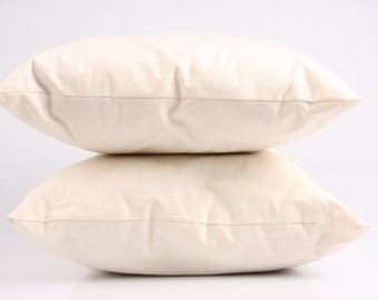 ORGANIC pillow inlet, handmade from organic cotton (cover) and natural filling _ organic cotton, wool or hemp (MAALIKAA creations)