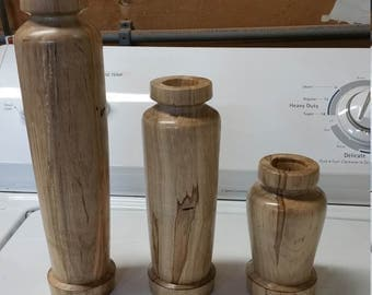 set of three candle holder