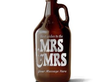 Custom Growler, Wedding Gift, Engagement, Etched Growler, Personalized Growler, Growler, Beer Gift, Engraved Growler, Brewery Gift, Beer