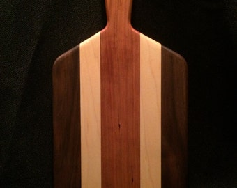 "The ""Drake"" Walnut, Maple and Cherry Serving/Cheese Board"