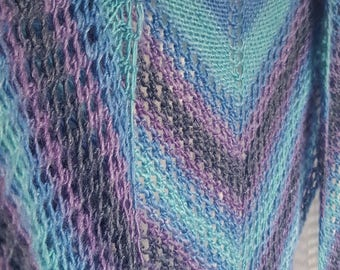 Ocean Waves Shawl, Merino Bamboo Blend, Very Soft Lace